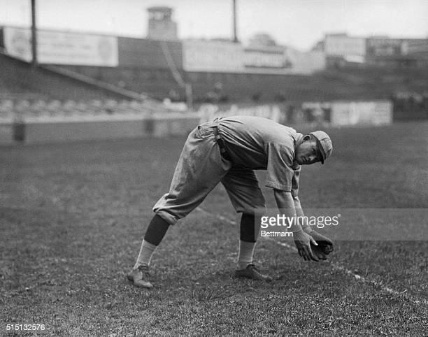 St Louis Cardinals Second Baseman Rogers Hornsby Fielding Ball