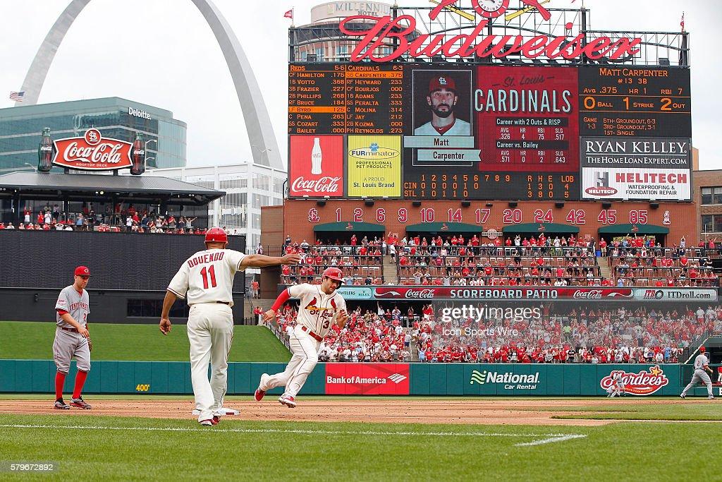St Louis Cardinals Shortstop Pete Kozma 38 As Seen Rounding 3rd Base During