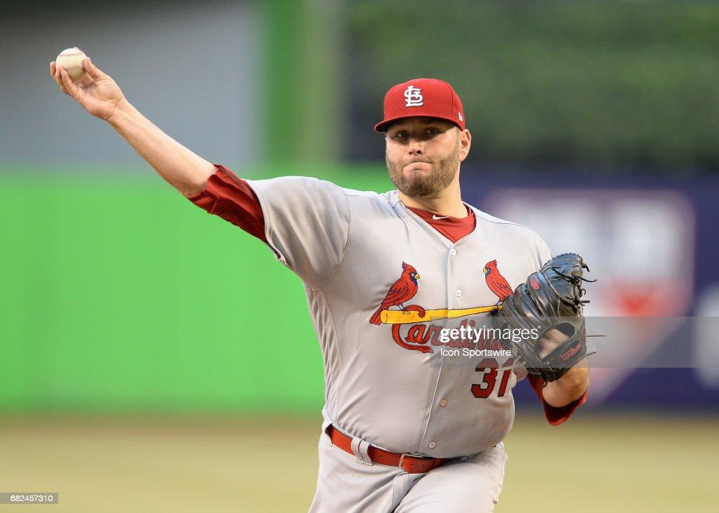 MLB: MAY 10 Cardinals at Marlins : News Photo