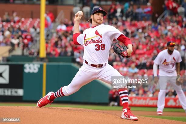 St Louis Cardinals starting pitcher Miles Mikolas delivers a pitch against the Cincinnati Reds during the game between the St Louis Cardinals and...