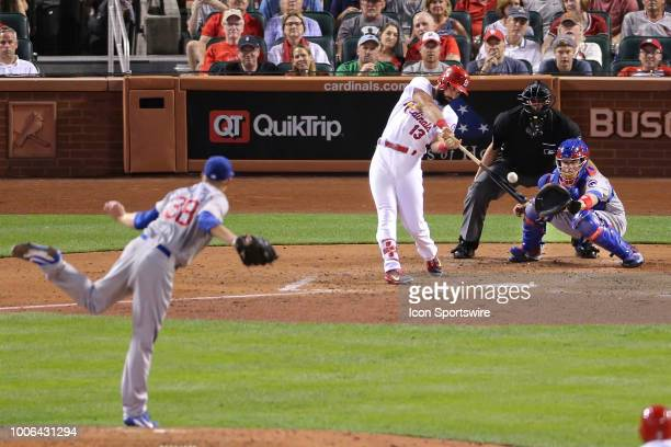 St Louis Cardinals third baseman Matt Carpenter at bat against the Chicago Cubs during the game between the St Louis Cardinals and Chicago Cubs on...