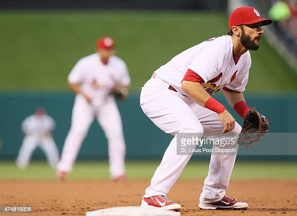 St Louis Cardinals third baseman Matt Carpenter on Tuesday May 26 at Busch Stadium in St Louis