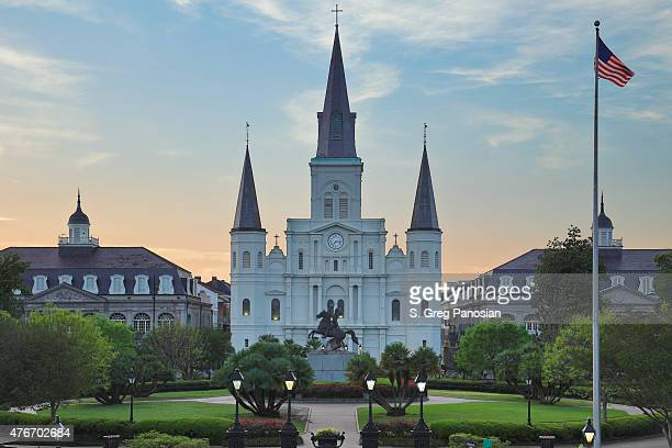 st. louis cathedral - new orleans - french quarter stock photos and pictures