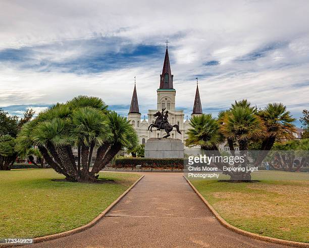 st. louis cathedral - new orleans french quarter stock photos and pictures