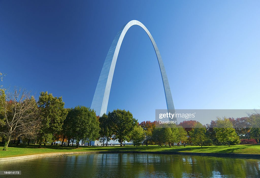 St. Louis Gateway Arch and Lake : Stock Photo