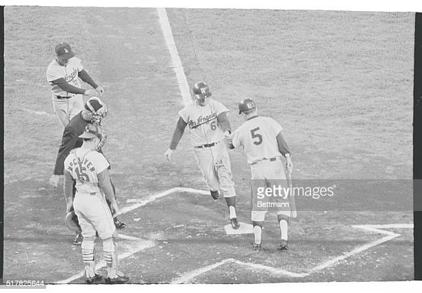 Dodger Ron Fairly smacked his second home run in as many games and again helped boost the Dodgers to their second victory over the Cardinals here...