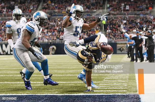 St Louis Rams running back Todd Gurley scores on a fiveyard touchdown run during third quarter action on Sunday Dec 13 at Edward Jones Dome in St...
