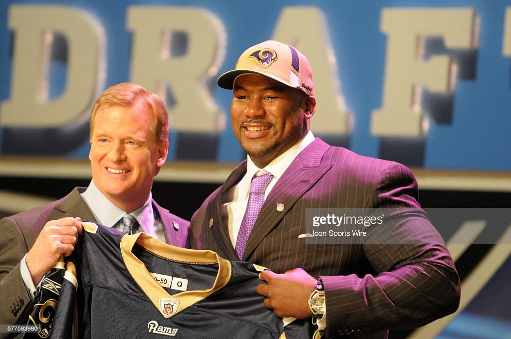 St. Louis Rams select Jason Smith of Baylor University with second overall pick during NFL Draft Day 1 at Radio City Music Hall in New York, NY.