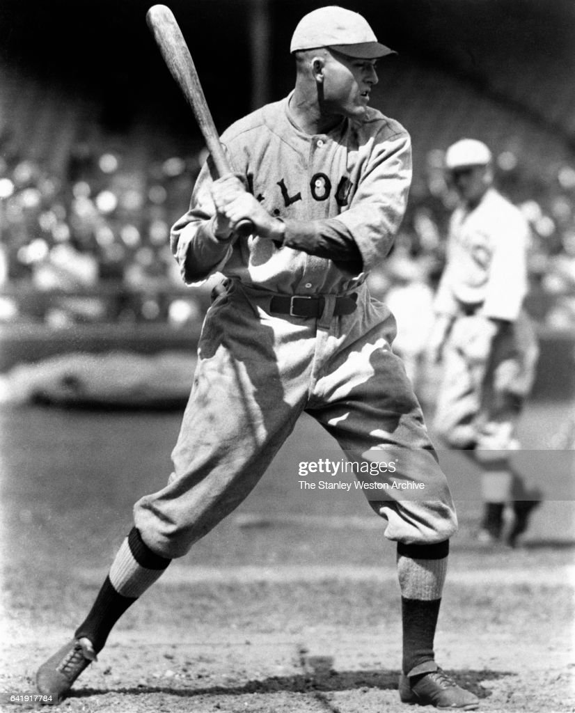 St Louis Slugger Rogers Hornsby During Batting Action, circa 1920.