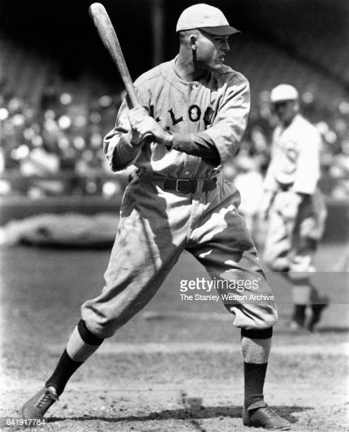 St Louis Slugger Rogers Hornsby During Batting Action circa 1920