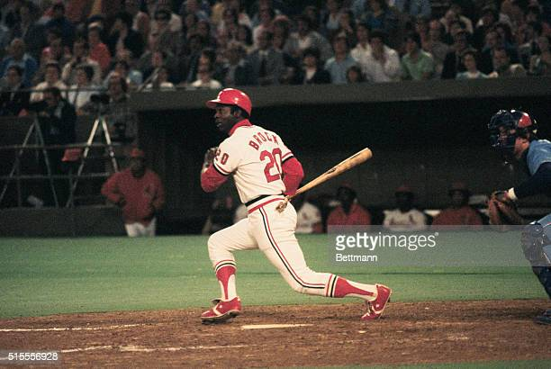 St Louis Cardinals' Lou Brock at bat in a game against Montreal Expos