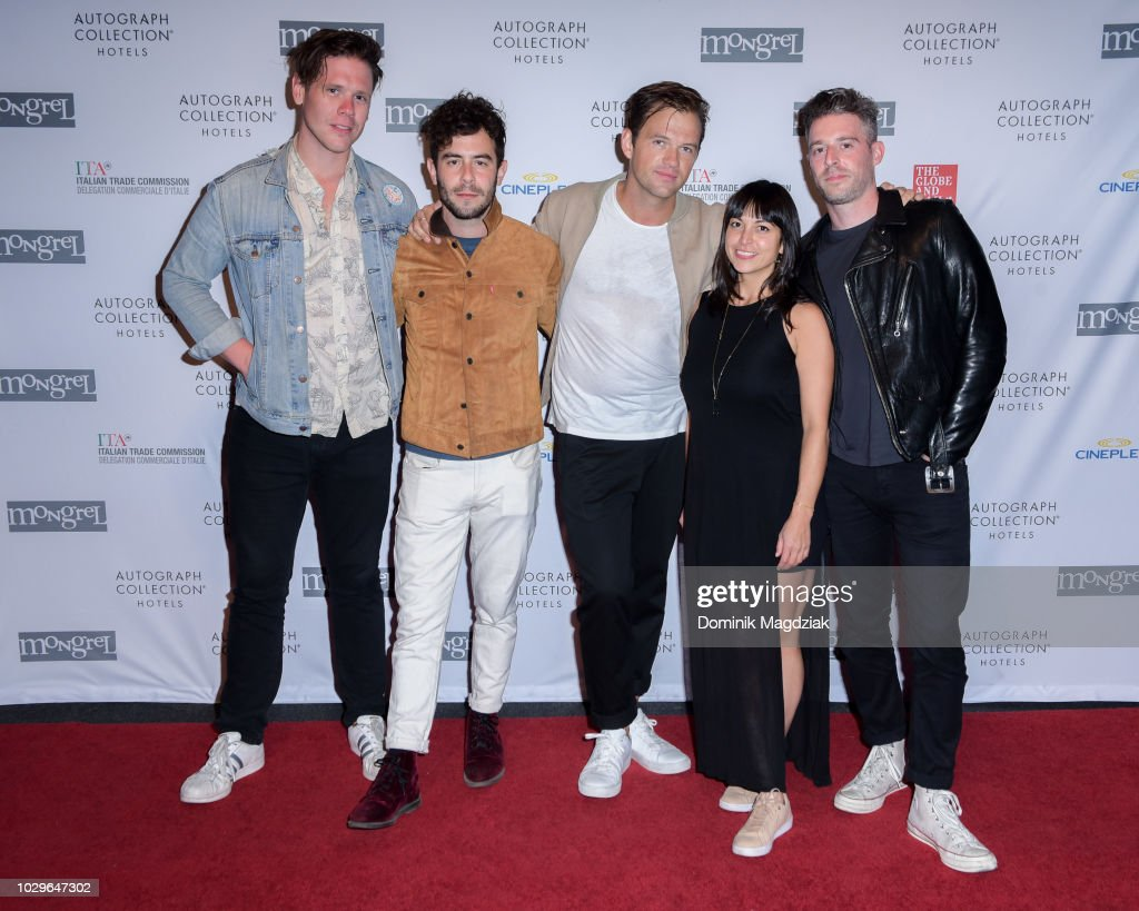 St. Lucia band members (L-R) Ross Clark, Nick Paul, Jean Phillip Grobler, Patti Beranek and Dustin Kaufman attend the Mongrel House presented by Autograph Hotel Collections during the Toronto International Film Festival on September 8, 2018 in Toronto, Canada.