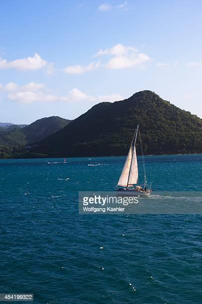 St Lucia Island Bay At Pigeon Island Sailboat