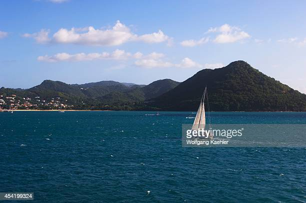 St Lucia Island Bay At Pigeon Island Sailboat