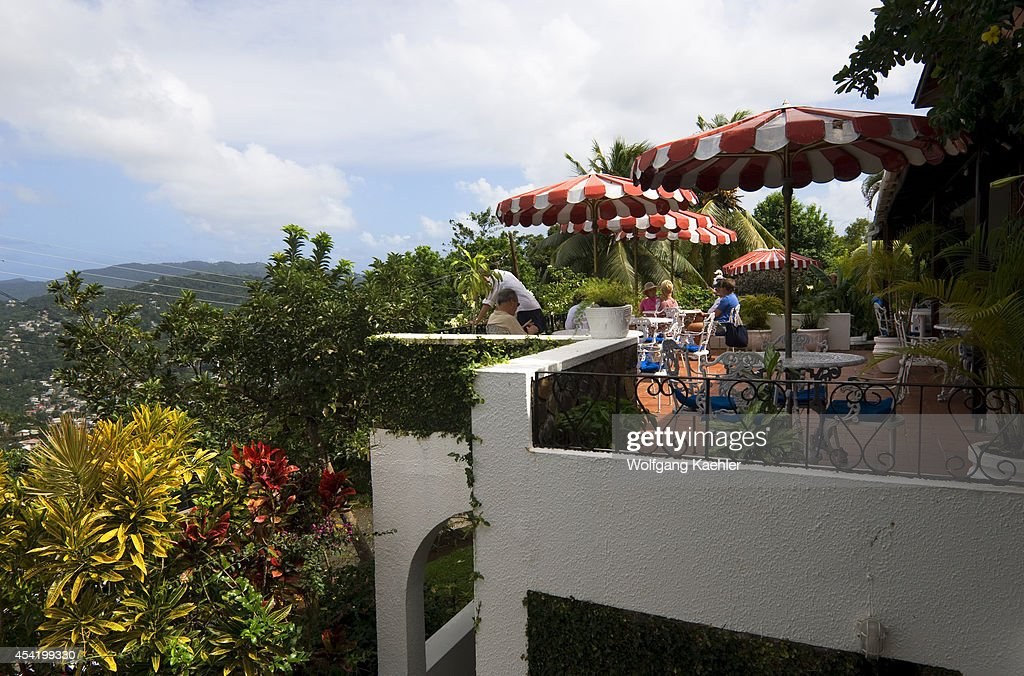 St. Lucia Island, Green Parrot Bar And Restaurant, Patio.
