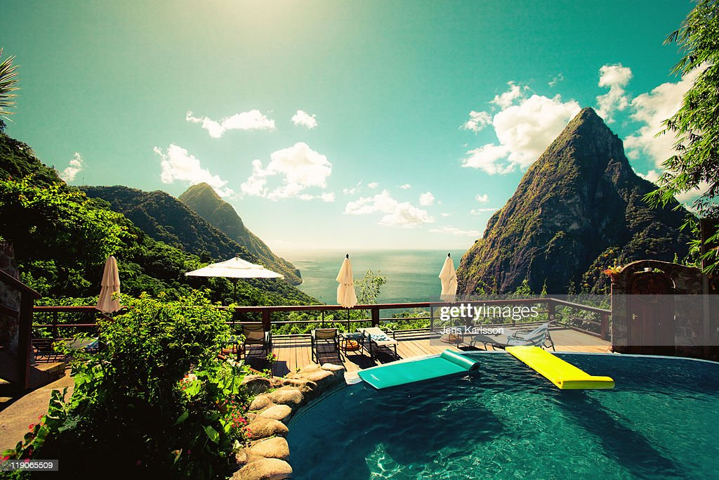 St. Lucia paradise view : Stock-Foto