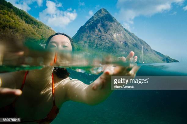 st. lucia travels - paisajes de santa lucia fotografías e imágenes de stock