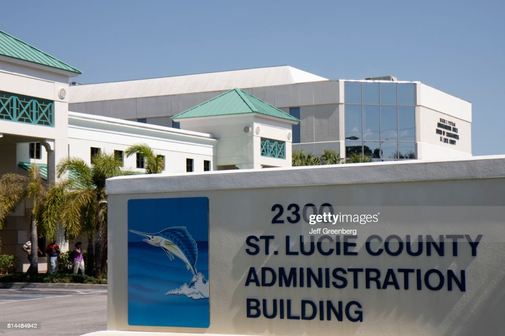St Lucie County Administration Building sign : News Photo