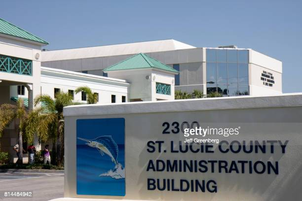 St Lucie County Administration Building sign