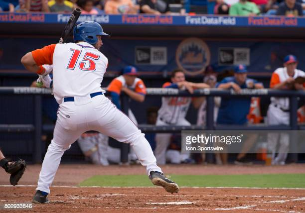 St Lucie Mets Outfielder Tim Tebow hits a two run home run during the second game of a double header MLB minor league baseball game between the Palm...