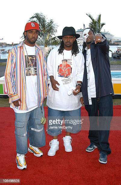 St Lunatics during 2004 MTV Video Music Awards Red Carpet at American Airlines Arena in Miami Florida United States