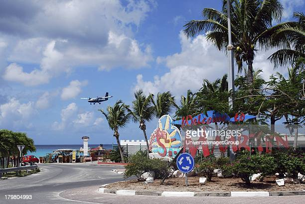 St Maarten Welcome sign, Beacon Hill, St Maarten.