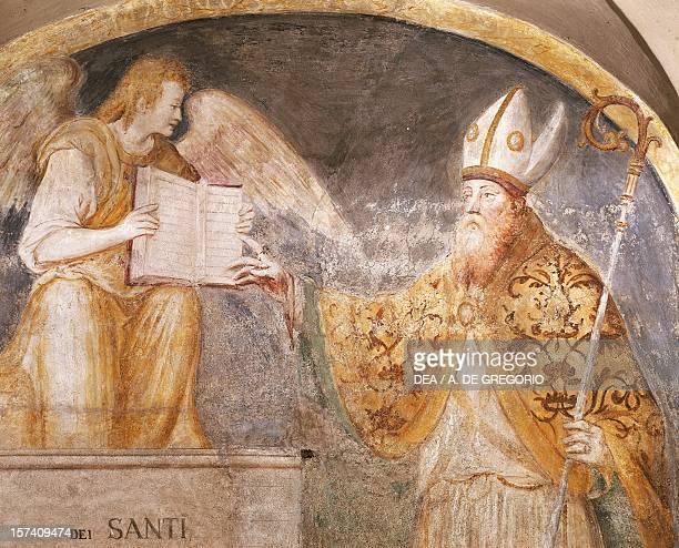 St Magnus, detail from a fresco in the Chapel of Saints Eustorgio and Magnus, Basilica of Sant'Eustorgio, Milan. Italy.