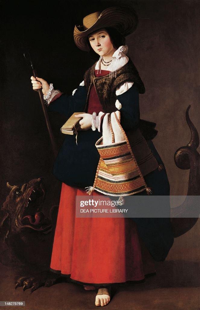 st margaret of antioch 1630 1634 by francisco de zurbaran oil