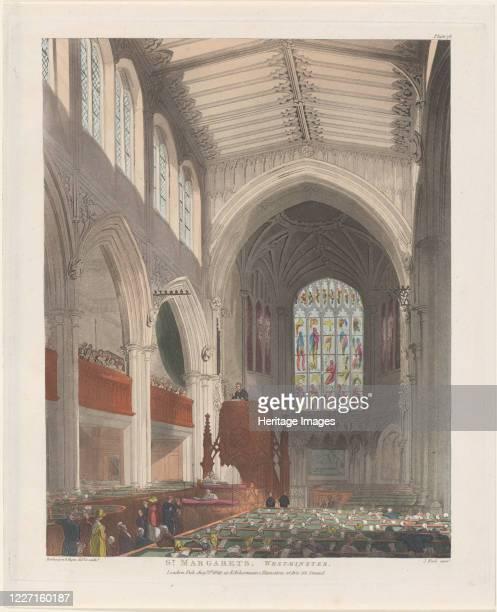 St Margaret's Westminster August 1 1809 Artist Thomas Rowlandson Augustus Charles Pugin J Bluck