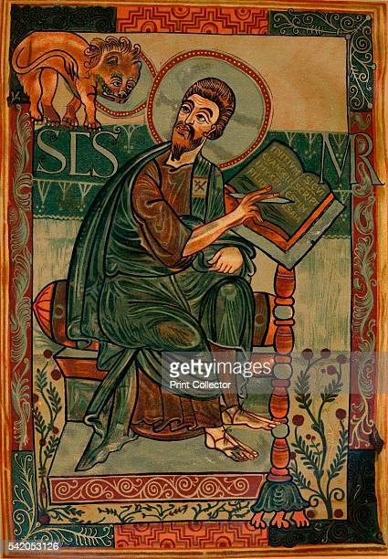 St Mark from the Godescalc Gospel Lectionary 781783 The Godescalc Evangelistary Godescalc Sacramentary Godescalc Gospels or Godescalc Gospel...