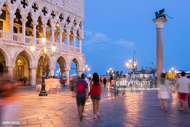 St. Mark Square at night, Venice, Veneto, Italy