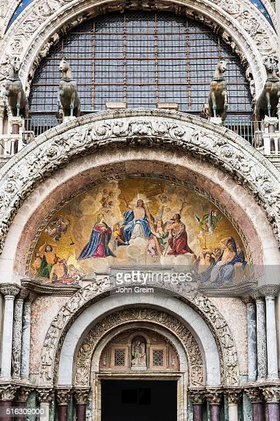 SAN MARCO VENEZIA VENETO ITALY St Mark's Basilica door detail