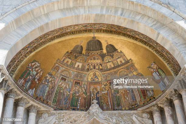 st. mark's cathedral in st. mark's square - venice, italy - religious occupation stock pictures, royalty-free photos & images
