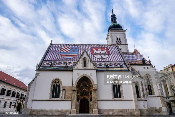 st mark's church - zagreb stock pictures, royalty-free photos & images