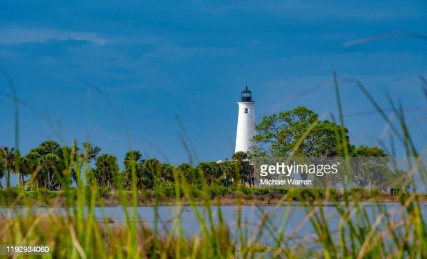 st. marks lighthouse, florida - tallahassee stock pictures, royalty-free photos & images