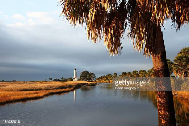 st. marks lighthouse - florida landscaping stock pictures, royalty-free photos & images
