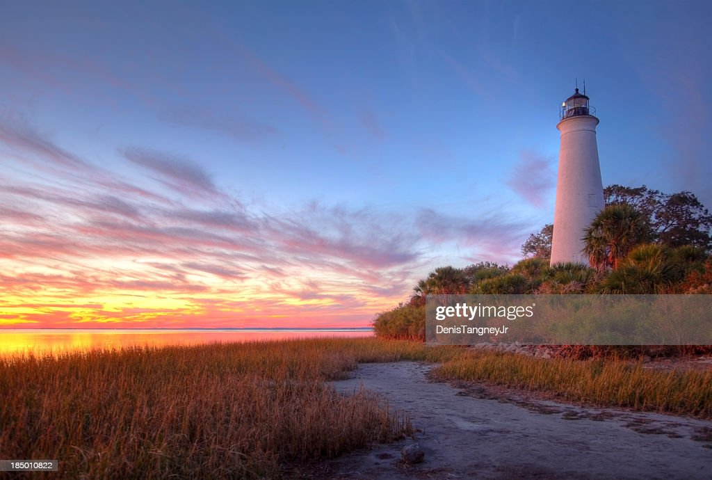 St Marks Lighthouse : Stock Photo