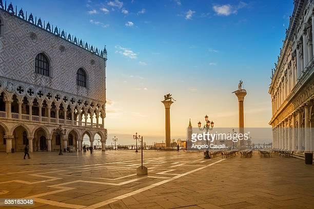 St. Mark's Square at sunrise, Veneto, Venice, Italy