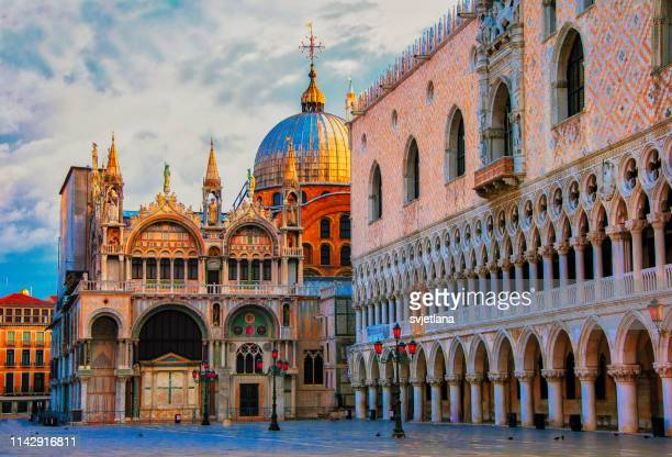 st. mark`s square, venice, veneto, italy - venice stock pictures, royalty-free photos & images