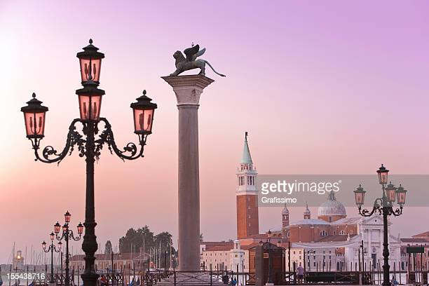 St Marks Square with Lido Venice Italy in the morning