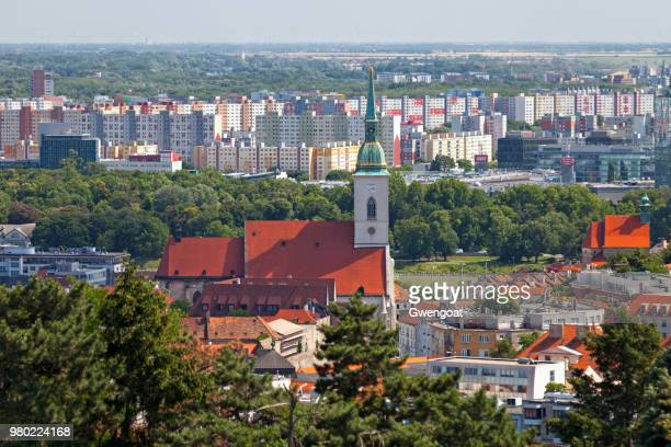 st martin's cathedral in bratislava - gwengoat stock pictures, royalty-free photos & images