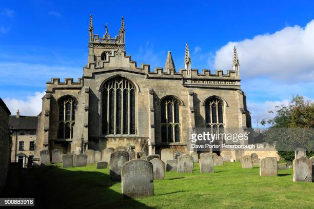 st martins church, st martins street, - lincolnshire stock pictures, royalty-free photos & images