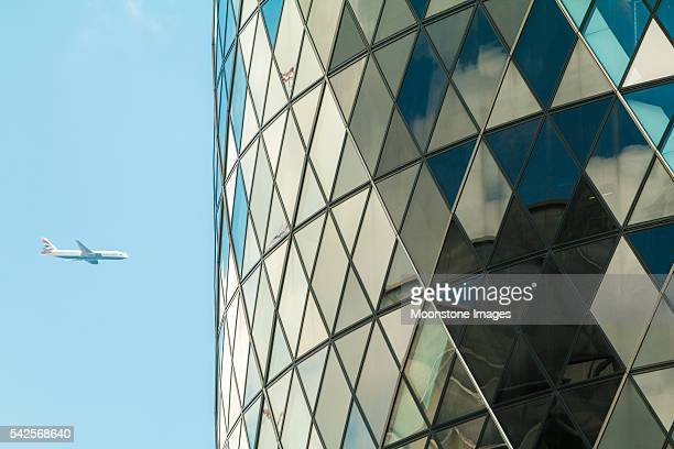 St Mary Axe in City of London, UK