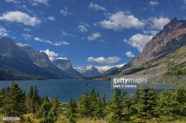 St Mary Lake, Wild Goose Island and a View to the West