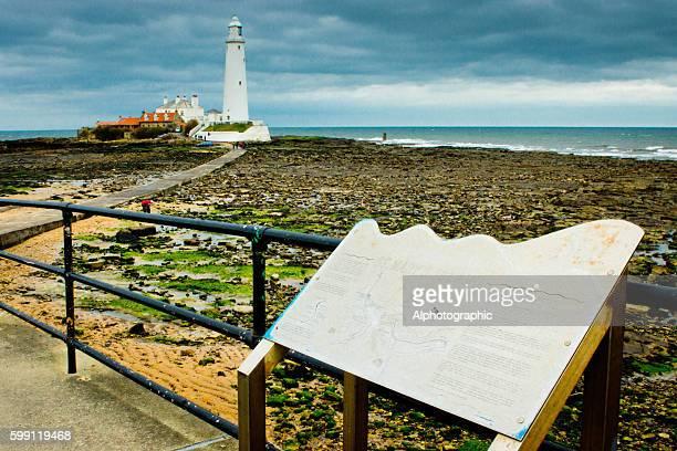 st mary lighthouse - mary moody fotografías e imágenes de stock