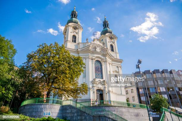 st. mary magdalene church, karlovy vary - karlovy vary stock pictures, royalty-free photos & images