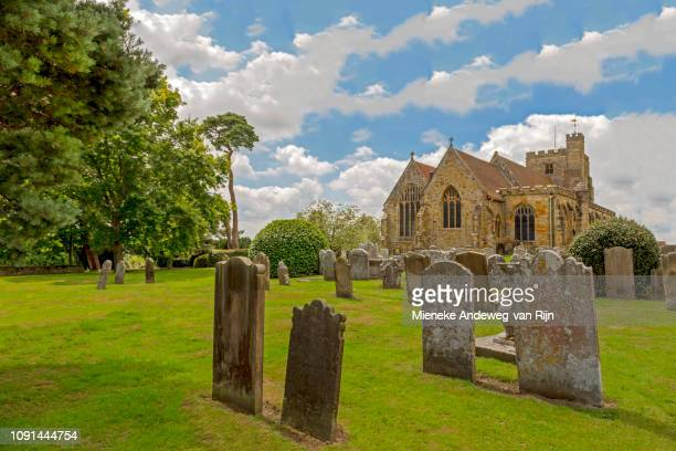 St Mary the Virgin Church, a historic landmark in the village of Goudhurst, Kent, England, United Kingdom