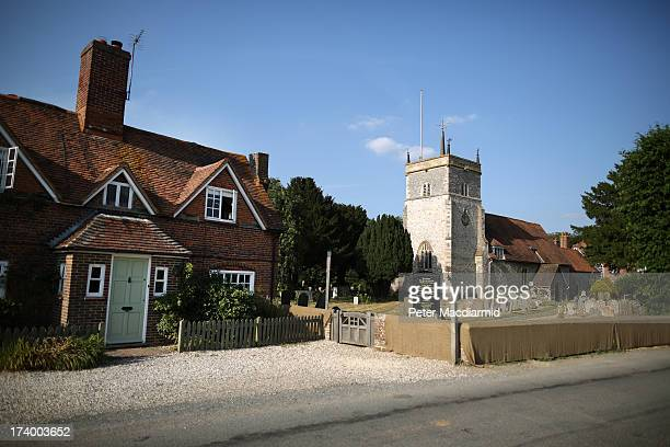 St Mary The Virgin Church in Bucklebury Village home to the family of The Duchess of Cambridge on July 18 2013 in Bucklebury England The United...
