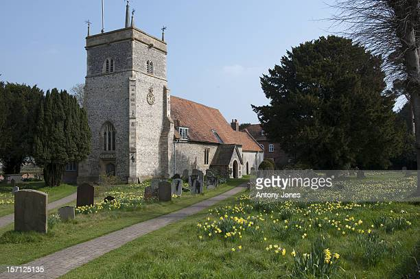 St Mary The Virgin Church In The Village Of Bucklebury Berkshire The Home Village Of Kate Middleton'S Parents Michael And Carole Middleton
