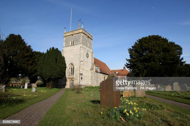 St Mary the Virgin church in the village of Bucklebury West Berkshire